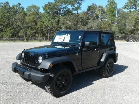 Black Jeep Wrangler Sport 4x4.  Click to enlarge.