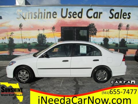 Taffeta White Honda Civic Value Package Sedan.  Click to enlarge.