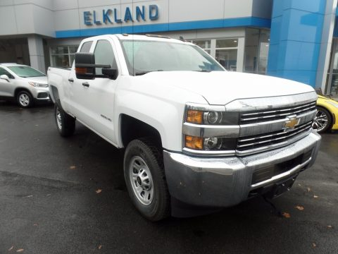 Summit White Chevrolet Silverado 2500HD Work Truck Double Cab 4x4.  Click to enlarge.