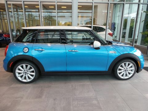 Electric Blue Metallic Mini Hardtop Cooper S 4 Door.  Click to enlarge.