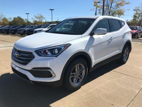 Pearl White Hyundai Santa Fe Sport AWD.  Click to enlarge.