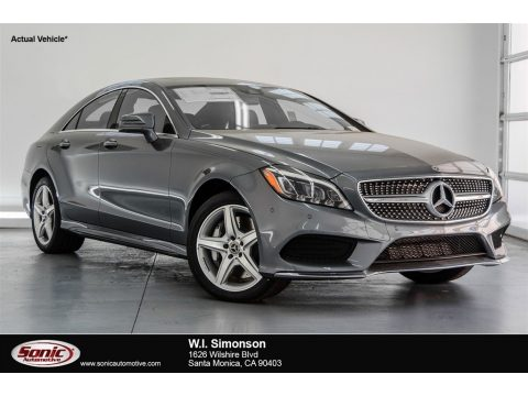 Selenite Grey Metallic Mercedes-Benz CLS 550 4Matic Coupe.  Click to enlarge.