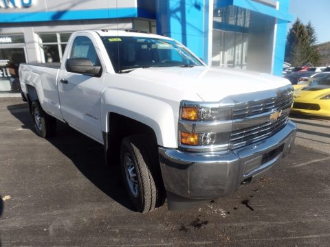 Summit White Chevrolet Silverado 2500HD Work Truck Regular Cab 4x4.  Click to enlarge.