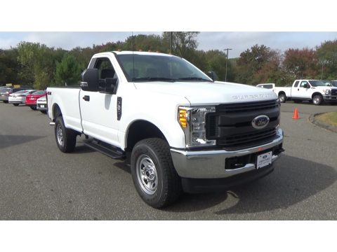 Oxford White Ford F350 Super Duty XL Regular Cab 4x4.  Click to enlarge.