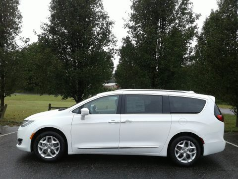 Bright White Chrysler Pacifica Touring L.  Click to enlarge.
