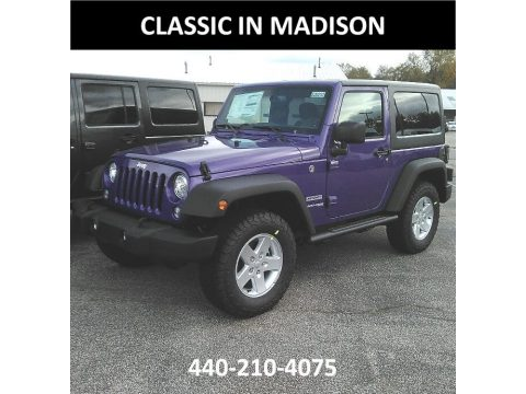 Xtreme Purple Pearl Jeep Wrangler Sport 4x4.  Click to enlarge.