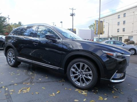 Jet Black Mica Mazda CX-9 Signature AWD.  Click to enlarge.