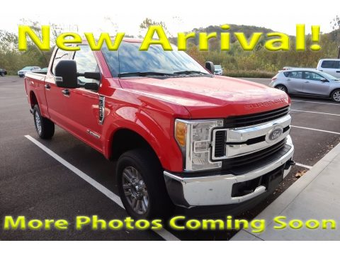 Race Red Ford F250 Super Duty XLT Crew Cab 4x4.  Click to enlarge.