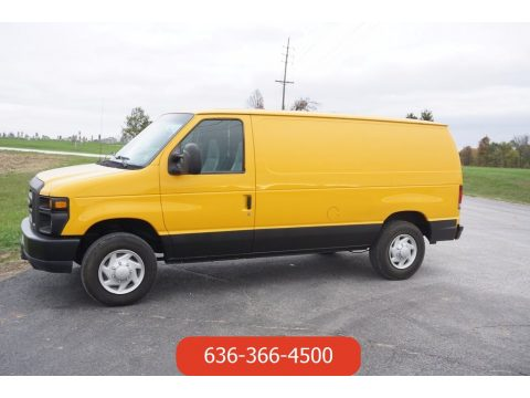 Fleet Yellow Ford E Series Van E150 Commercial.  Click to enlarge.