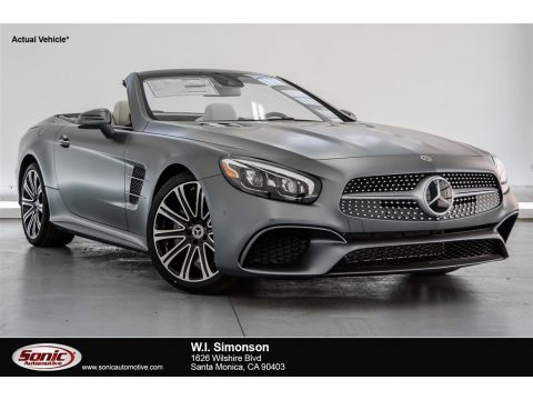 designo Selenite Grey Magno (Matte) Mercedes-Benz SL 450 Roadster.  Click to enlarge.