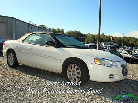 Stone White Chrysler Sebring GTC Convertible.  Click to enlarge.