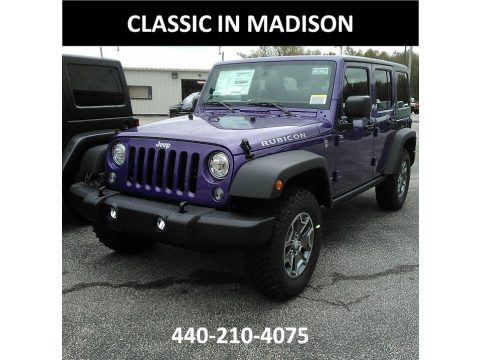 Xtreme Purple Pearl Jeep Wrangler Unlimited Rubicon 4x4.  Click to enlarge.