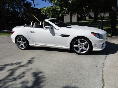 Arctic White Mercedes-Benz SLK 250 Roadster.  Click to enlarge.