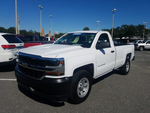 Summit White Chevrolet Silverado 1500 WT Regular Cab.  Click to enlarge.