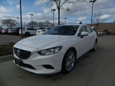 Snowflake White Pearl Mica Mazda Mazda6 Touring.  Click to enlarge.