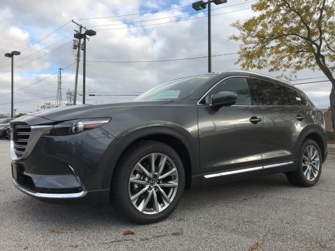 Machine Gray Metallic Mazda CX-9 Signature AWD.  Click to enlarge.