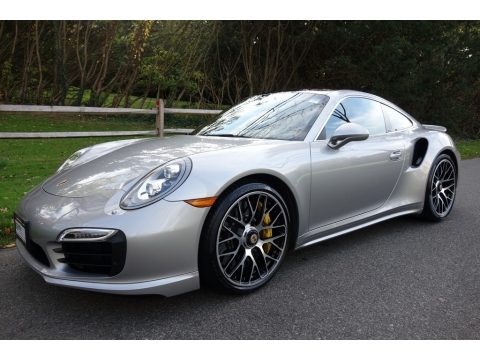 GT Silver Metallic Porsche 911 Turbo S Coupe.  Click to enlarge.