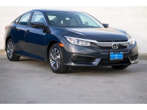 Cosmic Blue Metallic Honda Civic EX Sedan.  Click to enlarge.