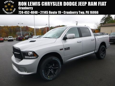 Bright Silver Metallic Ram 1500 Sport Crew Cab 4x4.  Click to enlarge.