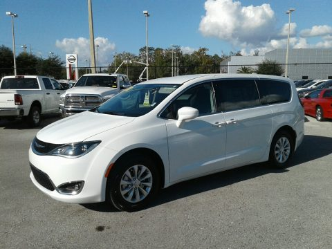 Bright White Chrysler Pacifica Touring Plus.  Click to enlarge.