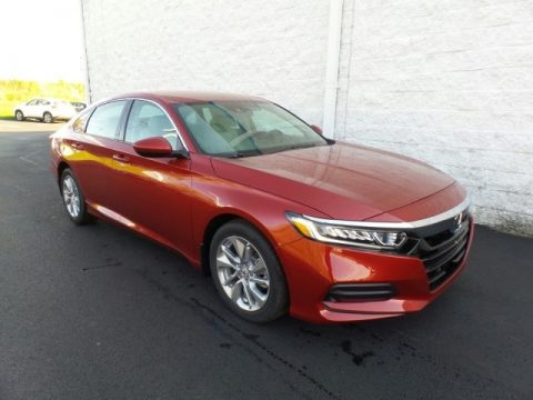 Radiant Red Metallic Honda Accord LX Sedan.  Click to enlarge.