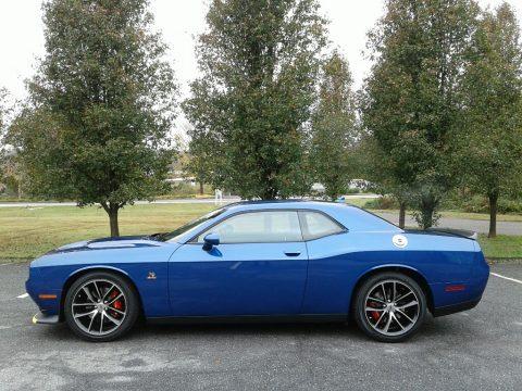 IndiGo Blue Dodge Challenger R/T Scat Pack.  Click to enlarge.