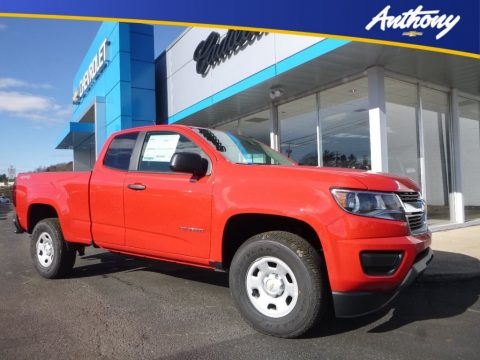 Red Hot Chevrolet Colorado WT Extended Cab 4x4.  Click to enlarge.