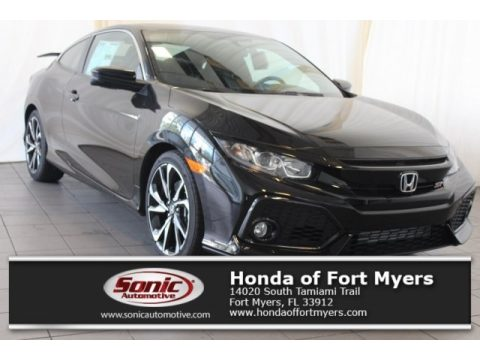 Crystal Black Pearl Honda Civic Si Coupe.  Click to enlarge.