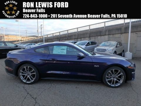 Kona Blue Ford Mustang GT Premium Fastback.  Click to enlarge.