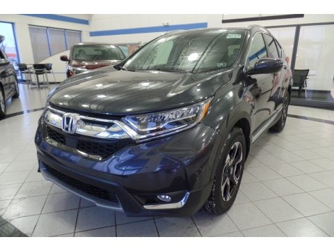 Gunmetal Metallic Honda CR-V Touring AWD.  Click to enlarge.