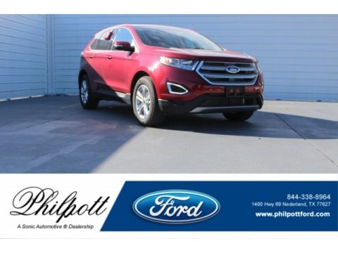 Ruby Red Metallic Ford Edge SEL.  Click to enlarge.