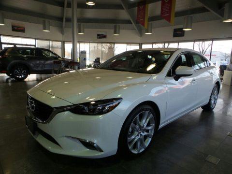 Snowflake White Pearl Mica Mazda Mazda6 Touring.  Click to enlarge.