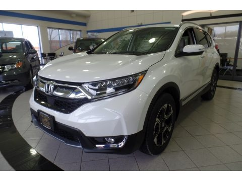 White Diamond Pearl Honda CR-V Touring AWD.  Click to enlarge.
