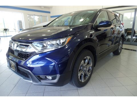 Obsidian Blue Pearl Honda CR-V EX AWD.  Click to enlarge.