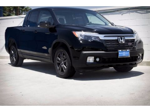 Crystal Black Pearl Honda Ridgeline Sport.  Click to enlarge.