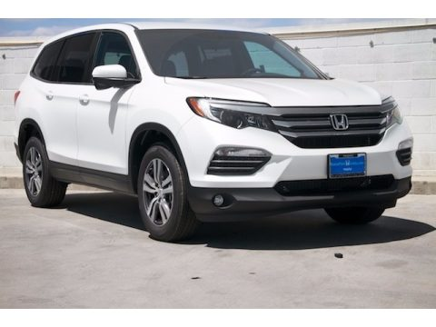 White Diamond Pearl Honda Pilot EX.  Click to enlarge.