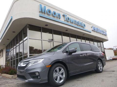 Modern Steel Metallic Honda Odyssey EX-L.  Click to enlarge.