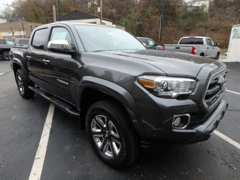Magnetic Gray Metallic Toyota Tacoma Limited Double Cab 4x4.  Click to enlarge.