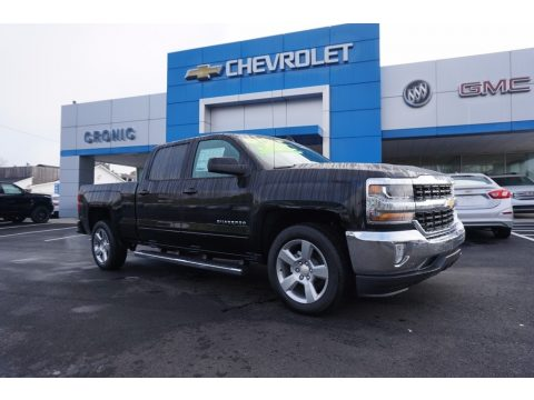 Black Chevrolet Silverado 1500 LT Crew Cab.  Click to enlarge.