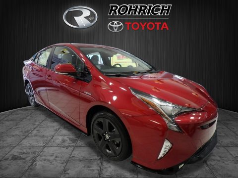 Hypersonic Red Toyota Prius Prius Four Touring.  Click to enlarge.
