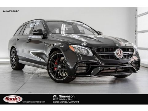 Black Mercedes-Benz E AMG 63 S 4Matic Wagon.  Click to enlarge.