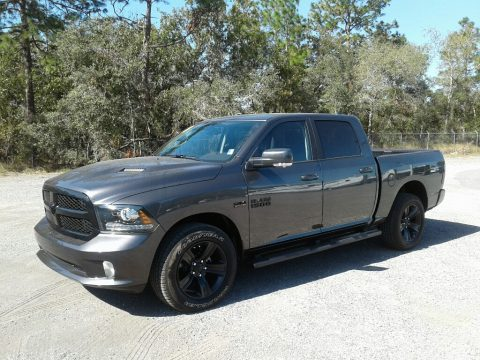 Granite Crystal Metallic Ram 1500 Night Crew Cab 4x4.  Click to enlarge.