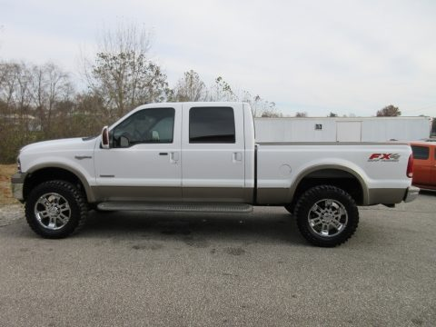 Oxford White Ford F250 Super Duty King Ranch Crew Cab 4x4.  Click to enlarge.