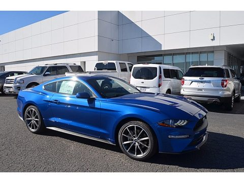 Lightning Blue Ford Mustang EcoBoost Fastback.  Click to enlarge.