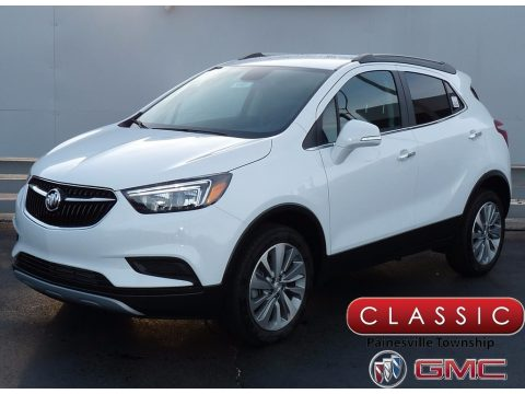 Summit White Buick Encore Preferred AWD.  Click to enlarge.