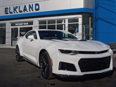 Summit White Chevrolet Camaro ZL1 Coupe.  Click to enlarge.