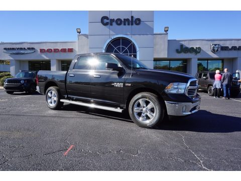 Brilliant Black Crystal Pearl Ram 1500 Big Horn Crew Cab.  Click to enlarge.