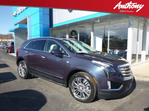 Harbor Blue Metallic Cadillac XT5 Premium Luxury AWD.  Click to enlarge.