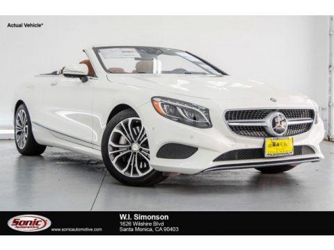 designo Diamond White Metallic Mercedes-Benz S 550 Cabriolet.  Click to enlarge.