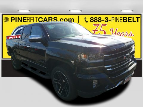 Black Chevrolet Silverado 1500 LTZ Double Cab 4x4.  Click to enlarge.
